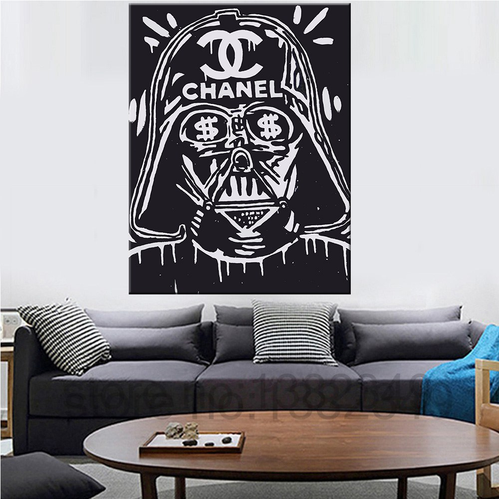 Canvas painting banksy star wars poster for graffiti print for Home decor 86th street