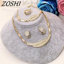 ZOSHI Jewelry Sets Women Indian African Jewelry Set Plant Party Cheap Wedding Jewellery For Brides Dubai Gold Jewelry Sets(China)