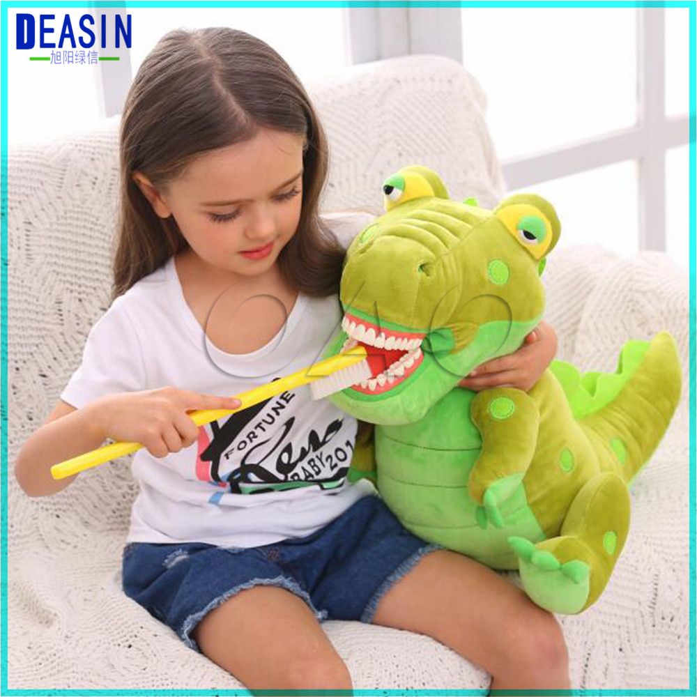 Dental Clinic gift crocodile Lovely animals brushing teeth doll with big teeth model and big toothbrush image