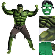 New Avengers Hulk costume for children / elegant dress / Halloween carnival evening linen Party Cosplay boy children clothes dec(China)