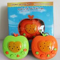 Arabic Auran Apple Learning Machines Mini Muslim Quran Coran Koran Learning Education Toys With LED Light Projection Daily Duaas