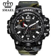 SMAEL Moda Hombre Relojes Deportivos A Prueba de agua 50 m Reloj Digital Militar Al Aire Libre de Senderismo de Los Hombres de Pulsera Reloj Hombre Montre Homme