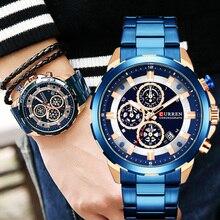 Top Brand Blue Luxury Waterproof  Men's Wristwatch