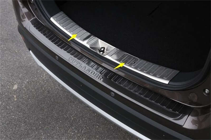 Stainless Steel Inner Rear Bumper Protector Sill Trunk Tread Plate Trim Fit For Mitsubishi Outlander 2016 Car Styling 1pcs/set