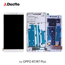 For OPPO R7 R7 Plus R7P LCD Display Touch Screen Digitizer with Front Cover Frame Full Assembly Replacement Parts 5'' 6'' 15 6 laptop touch screen ips screen b156han01 2 touch glass panel for acer aspire r7 572 assembly replacement