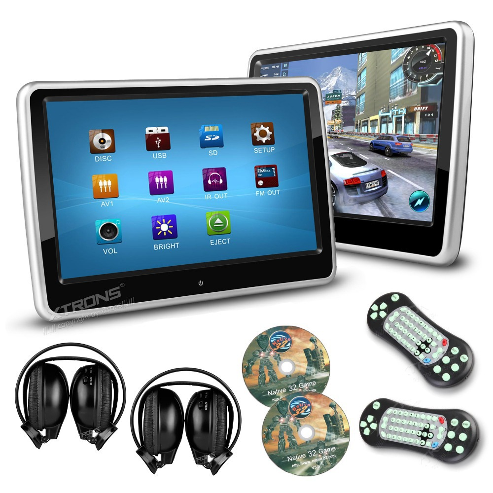 XTRONS 2pcs / lot 10,1 inch Inch HD Digital Touch Screen Car Head DVD - Electronică Auto