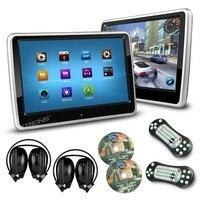XTRONS 2 шт./лот 10,1 дюймов HD цифровой сенсорный экран автомобильный подголовник dvd плеер 1024*600 Ультра тонкий съемный 2 ИК наушники