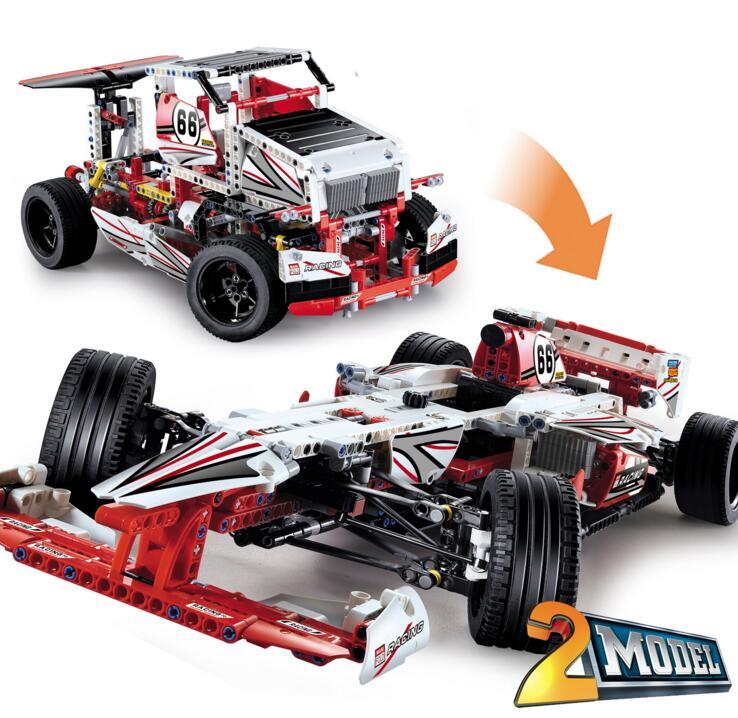 ФОТО Grand Prix Racer F1 2 In 1 Transformable Model Building Sets Toys Technic Creator 42000 Decool Bricks Blocks