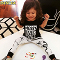 Bebê Roupas Meninas 2017 Verão Novo estilo O Pescoço Camisas + calças Conjunto de Roupas Para Bebês Meninas Atende Bebes Roupa Do Bebê conjuntos