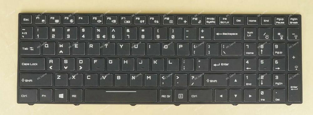 New For Clevo P650SG P651SG Keyboard US /& Russian BACKLIT /& Frame
