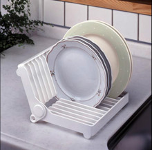 New Folding Durable Bowl Dish Rack Plate Shelf Kitchen Space Storage Holder ABS Sink Drainer Accessories