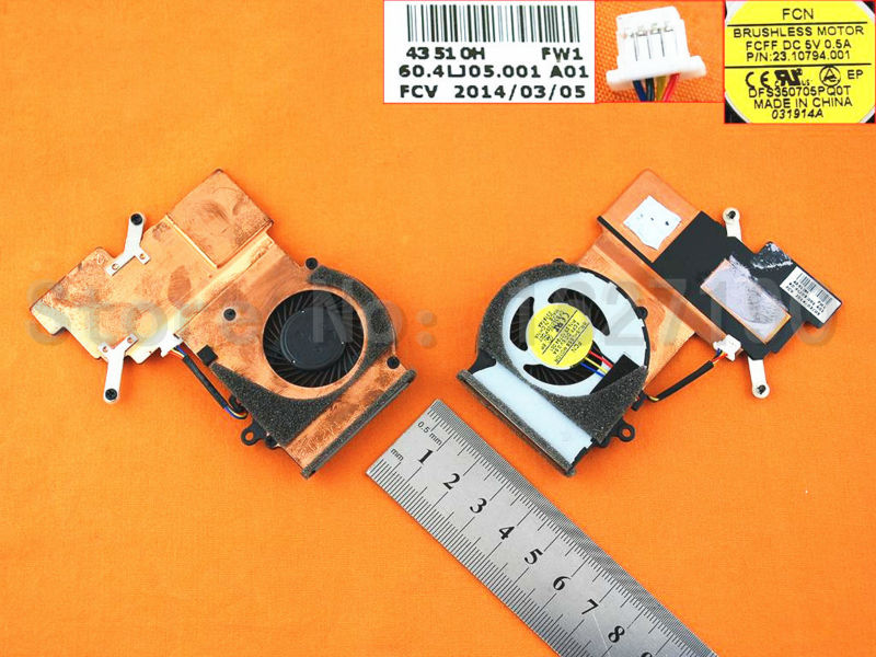 Brand New Laptop CPU Cooling Fan Repair  for Acer Aspire V5-132P (Heatsink) 0RFW100000 original laptop cpu cooling fan repair replcement for acer aspire 4750 for discrete video card heatsink version 1