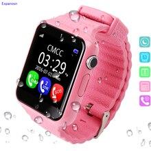 Espanson Безопасность детей анти потерял умный часы GPS трекер с Камера малыш SOS аварийного IOS Android водонепроницаемые детские часы