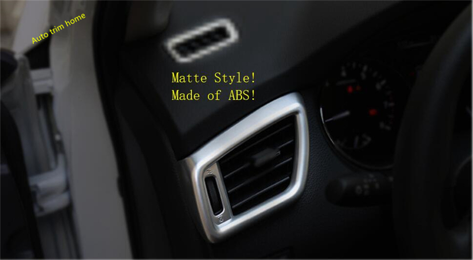 Lapetus For Nissan Rogue / X-trail T32 X Trail 2014 - 2018 ABS Side Air Conditioning AC Outlet Vent Molding Garnish Cover Trim