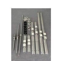 SBR16/20 CNC Linear Rail set + 3 Ball screw SFU1605+BK/BF12 + Nut housing + Couplers For Milling Machine