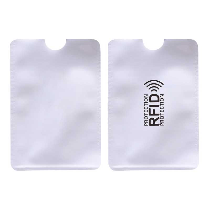 10 pcs/lot Anti-Scan Card Sleeve Credit RFID Card Protector Anti-magnetic Aluminum Foil Portable Bank Card Holder
