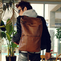 Mochilas de couro dos homens tendência Mochila masculino bolsa de viagem tamanho grande bagagem sacos de estudante de moda mochila formal dos homens