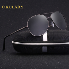 2018 New Men Polarized Sunglasses 4 Colors Gold UV400 Male Glasses Frame  with box 83754d73b4b3