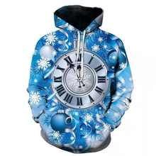 2018 new Fashion Blue clock Hoodies Hot 3d Hoody universe Print Men Women Hooded Sweatshirt Asian size custom Drop shipping(China)