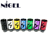 Nigel Style 6 Aluminum metal air flow control Drip Tip Adjustable airflow 510 Drip Tips Mouthpiece for mod E Cigs Atomizer