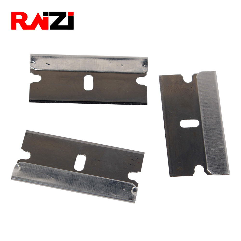 Raizi 100 Pieces Safety Single Edged Razor Blades For Excessive Adhesives Old Film Glue Removal Tools