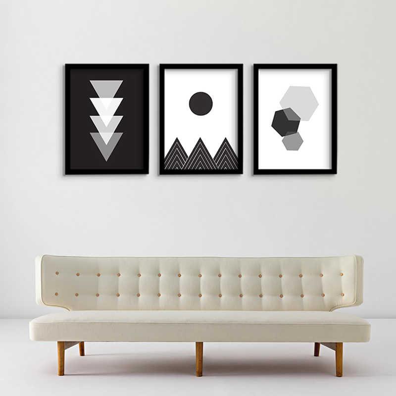 Cuadros Decoracion домашние абстрактные геометрические настенные картины для гостиной стены искусства холст живопись Северный плакат без рамы