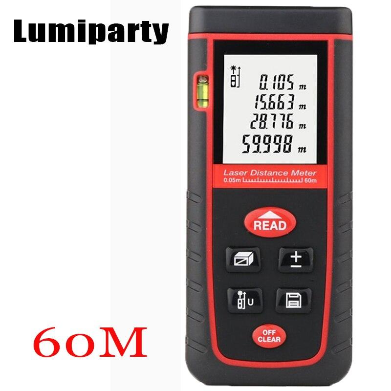 Lumiparty Laser Distance Meter 40M 60M 80M Rangefinder Range Finder Self-calibration Digital Tape Measure