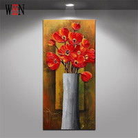 1Pc Handpainted Flowers Abstract Bouquet Modern Wall Art Picture Home Decor Oil Painting On Canvas For