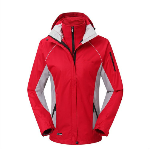 Autumn and winter outdoor three in one two sets of thick fleece waterproof breathable mountaineering suit