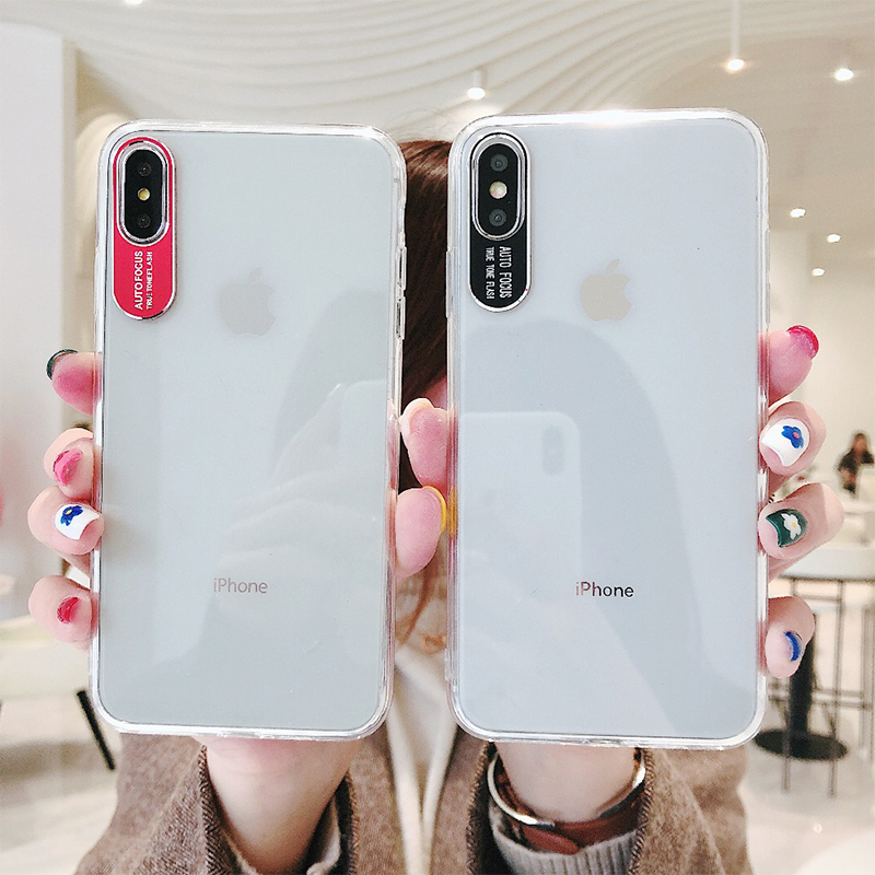 Clear Metal Camera Protection Lens Phone Cases For iPhone 10 6s 7 8 Plus XS MAX XR X 8Plus 7Plus Hard PC Soft TPU Silicone Cover image