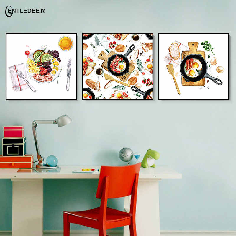Delicious Food Abstract Art Style Printing Wall Painting Nordic Canvas Painting Living Room Home Decor Kitchen Restaurant Poster