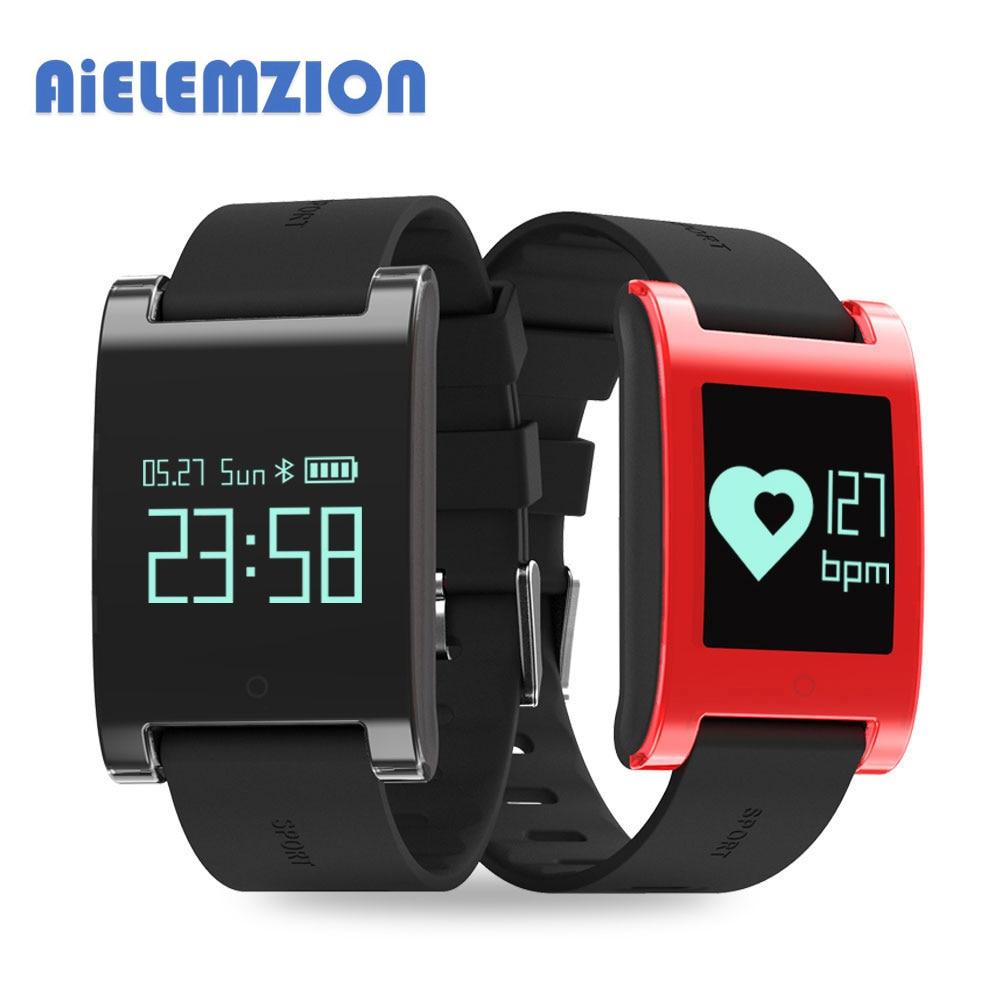AiELEMZION DM68 Waterproof IP67 Smart Band Blood Pressure Heart Rate Monitor 0 95 Bluetooth Wrist Watch