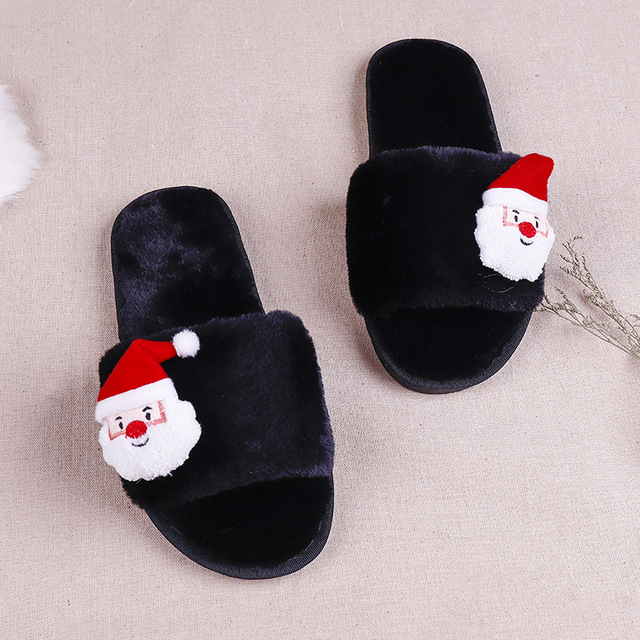 f8d879791a Christmas Slippers Baby Children Slippers Kids Winter Warm Flip Flops Boys  Girls Animal Cotton Home Shoes Santa Claus Red Shoes