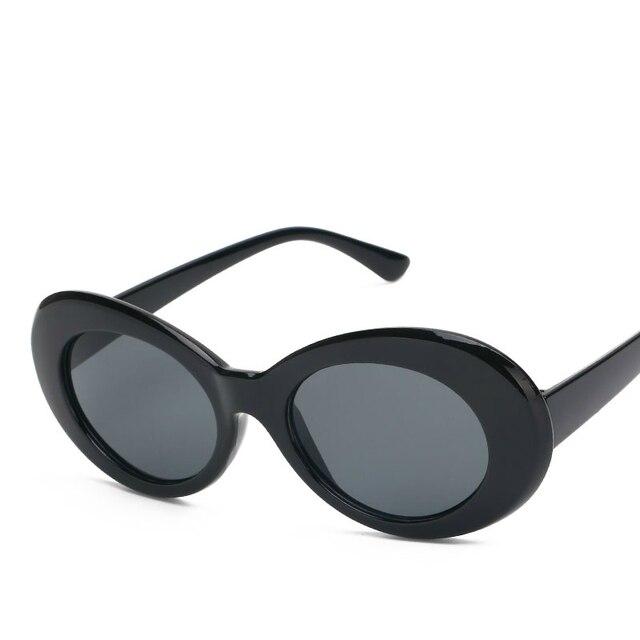 MAYEV Kurt Cobain Glasses Frame Oval Sunglasses Gothic Retro Vintage ...