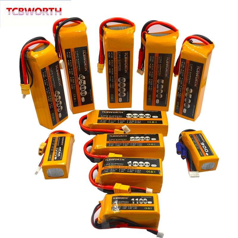 3 S 3 S 11.1 V 1100 mAh RC LiPo bateria 1300 mAh 1500 mAh 1800 mAh 2200 mAh 2600 mAh 25C 35C 60C Para Avião RC Boat 11.1 V LiPo Zangão 3 S