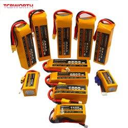 3 S RC LiPo batteria 3 S 11.1 V 1100 mAh 1300 mAh 1500 mAh 1800 mAh 2200 mAh 2600 mAh 25C 35C 60C Per RC Aereo Drone Barca 11.1 V LiPo 3 S