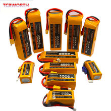 3S RC batería LiPo 3S 11,1 V 1300, 1500, 1800, 2200, 2600, 3000, 3500, 4200, 6000mAh 25C 35C 60C para Dron aeroplano RC Barco de 11,1 V LiPo 3S