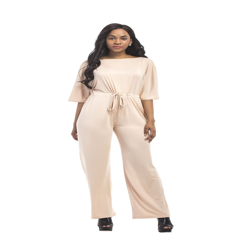 New summer Europe and the United States popular fashion personality Bohemian style high waist large size fat MM jumpsuit in Jumpsuits from Women 39 s Clothing