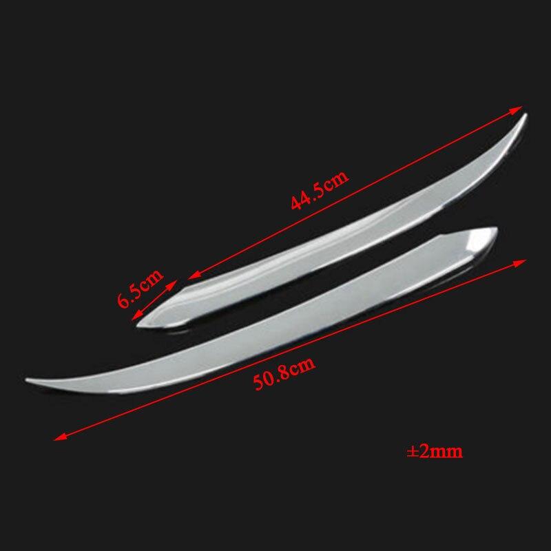 Carmilla 2X Araba Ön Işıklar Spor Zihin ABS Krom Dekorasyon Şerit - Araba Parçaları - Fotoğraf 3