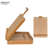 Table Wooden Artist Easel for Painting Sketch Easel Drawing Box Oil Paint Suitcase Laptop Accessories Art Supplies For Artist