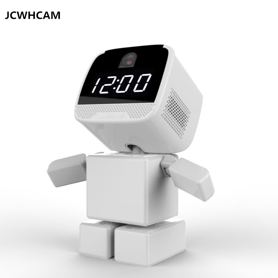 цена JCWHCAM Wireless Robot 960P IP Camera WIFI Clock Network CCTV HD Baby Monitor Remote Control Home Security Night Vision