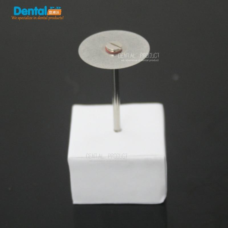 Купить с кэшбэком 12 pcs + 2 Mandrel Dental Ultra-thin Double Sided Diamond Cutting Disc for separating polishing ceramic crown plaster or jade