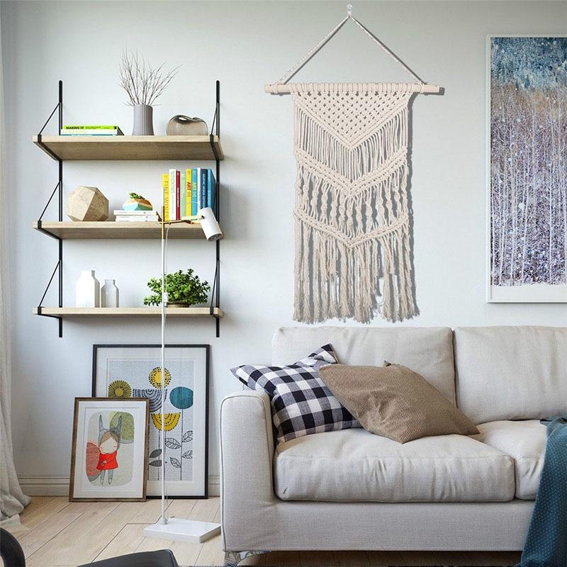 Nordic Style Tassels Wall Hanging Handmade Macrame Home Decor Retro Craft Handcrafted Children's Room Decoration
