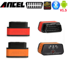 ancel icar2 elm327 v1.5 Android obd2 scanner bluetooth android adapter OBD OBD2 JOBD CAN code readers scan tools