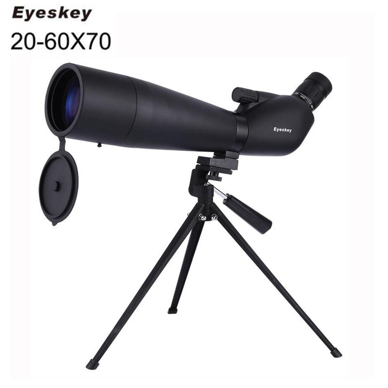 Eyeskey 20-60x70 Zoom Spotting Scope Monocular Telescope With Portable Tripod Monoculares Professional Bird Animal Telescope стоимость