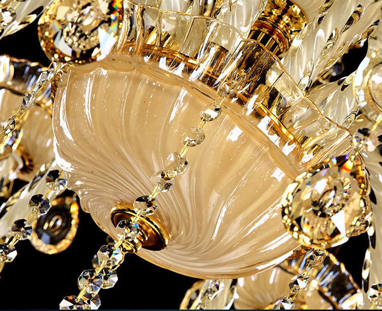 Camera Da Letto Color Champagne : Europeo di lusso lampadario di cristallo di colore di champagne