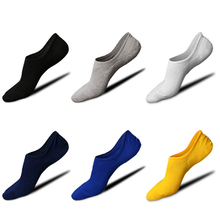 Brand Summer Silicone Socks Men 5 Pairs/lot Anti-slip No Show Socken Male Retro Invisible High Quality 2019 New