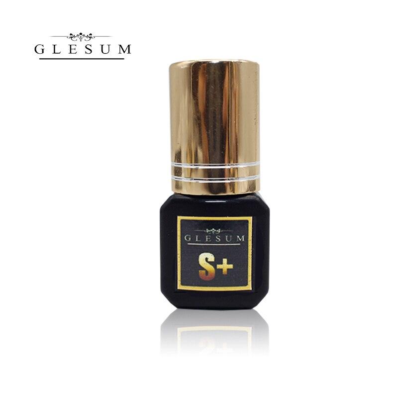 GLESUM Fast Dry 1-2 Sec 1 Bottle Eyelash Extension Glue 5ml Clear Black Lashes Mink Eyelashes Glue Cosmetic Free Shipping