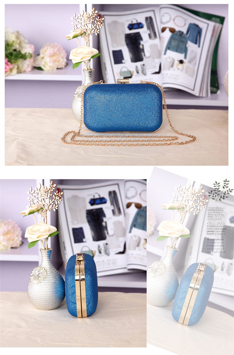 b14a87c04cc3 Fashion small blue cartoon horse printed evening bag metallic handbag party  hard case clutch metal 4colors bolsa de festa perolaUSD 28.98/piece