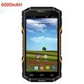 "Original Android Teléfono 6000 mAH Impermeable IP68 Resistente A Prueba de Golpes Smartphone 1 GB RAM 5.0 ""teléfono MTK6582 Quad Core V4 3G GPS"